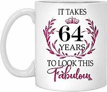 64. Geburtstagsgeschenk Für Frauen-Es Dauert 64