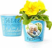 64. Hochzeitstag Geschenk – Blumentopf (ø16cm)
