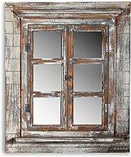 64CM Wandspiegel + Fensterladen + Ablage