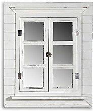 64CM Wandspiegel + Fensterladen + Ablage und