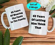 65. Jahrestag Geschenke, 65. Hochzeit, 65.