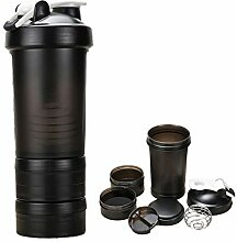 650ml Shaker Bottle Fitness Protein Mixer Cup