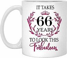 66. Geburtstagsgeschenk Für Frauen-Es Dauert 66