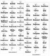66 weiße Gewürzetiketten (Teil 1 + 2),