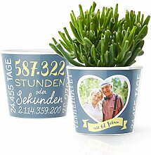 67. Hochzeitstag Geschenk – Blumentopf (ø16cm)
