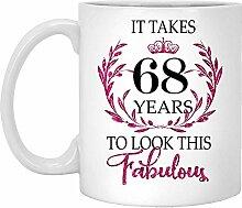 68. Geburtstagsgeschenk Für Frauen-Es Dauert 68