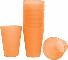68x Mehrweg Trinkbecher orange 0,4 Liter