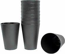 68x Mehrweg Trinkbecher schwarz 0,4 Liter
