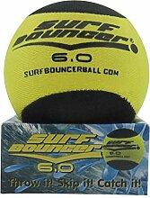 6cm Surfbouncer Schwarze & Gelbe Wasser Skimmer Ball - Schwimmbad, strand Spiel Spielzeug