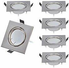 6er Dimmbar LED Einbaustrahler 230V Flach nur 26mm