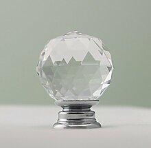 6er groß Durchmesser 40mm Diamant Kristall Möbelknöpfe Moebelknauf Griff Glas Möbelknopf Schrankgriff