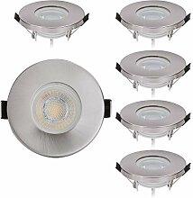 6er IP44 LED Einbaustrahler Set mit LED Spot Modul