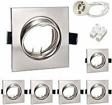 6er LED Einbaustrahler GU10 Set Einbauleuchten