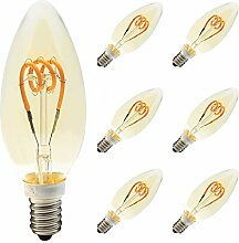 6er-Pack 3W Dimmbar LED Lampe in Kerzenform mit