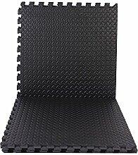 6er Pack Eva Puzzlematten a 60x60cm inkl. Seitenränder schwarz Puzzlematte Bodenmatte Spielmatte Turnmatte Schutzmatte