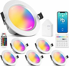 6er Set 15W 1200LM Wlan Bluetooth LED