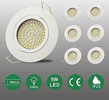 6er set 5W ultra-flach 25mm LED Einbaustrahler