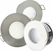 6er-Set Bad LED-Einbaustrahler AQUARIUS 230V -