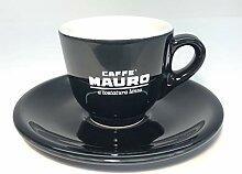 6er Set Caffé Mauro Espressotasse schwarz mit