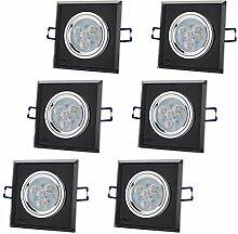 6er Set CRISTAL BLACK Q 230V LED SMD 4.5W