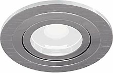 6er Set Einbaustrahler Aluminium, modern, silber,