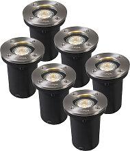 6er Set Einbaustrahler rund LED - Basic