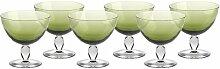 6er Set, Eiscremeglas, Eisbecher, Eisschale