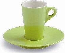 6er Set Espressotasse Mara, grün, mit Untertasse,