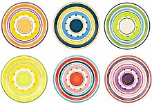 6er Set Essteller Cefalu im farbenfrohen