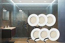 6er Set flacher Einbaustrahler Trevi LED 4W 230V