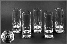 6er-Set Glas-Stamper Totenkopf