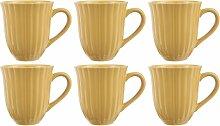 6er Set Kaffeebecher, Tasse MYNTE Mustard gelb