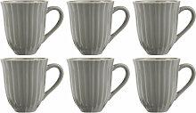 6er Set Kaffeebecher, Tasse MYNTE Mustard Granite