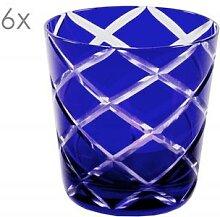 6er Set Kristallgläser Dio, blau,