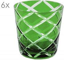 6er Set Kristallgläser Dio, grün,