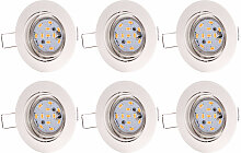 6er Set LED Einbau Strahler weiß verstellbar ALU