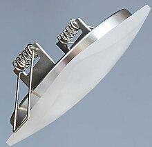 6er SET LED Einbaustrahler sehr flach 5W ECKIG