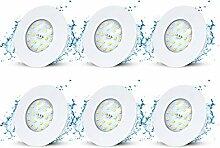 6er Set LED Einbaustrahler Ultra Flach 230V 5W