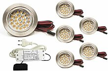 6er SET LED Möbelleuchte Möbeleinbaustrahler