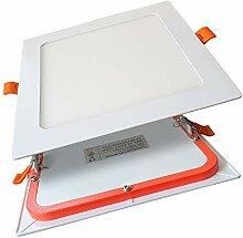 6er SET LED Panel 12W eckig flach ultraslim