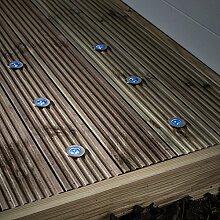 6er Set LED Solar Bodeneinbaustrahler Blau