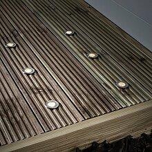 6er Set LED Solar Bodeneinbaustrahler Warmweiß