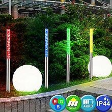 6er Set LED Solar Lampen Kugel Design Außen