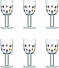 6er Set Leonardo Weißweinglas Millefiori Bun