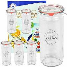 6er Set Original WECK 1/2-Liter Zylinderglas,