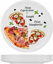 6er Set Pizzateller Margherita groß - 30,5cm