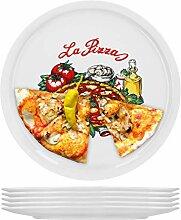 6er Set Pizzateller Napoli groß - 30,5cm