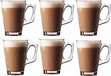 6er Set Premium Latte Gläser Becher 240ml (8.8oz)