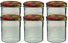 6er Set Sturzglas 350 ml Marmeladenglas