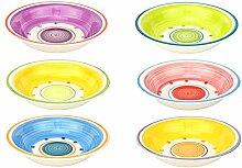6er Set Suppenteller Cefalu im farbenfrohen